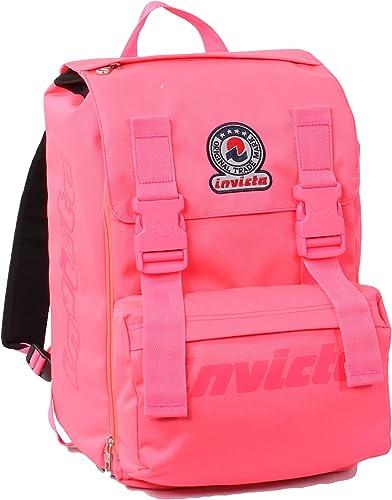 ErWeißerbarer Rucksack - INVICTA Logo Flash - Rosa - 28 Liter Schule erWeißerbar