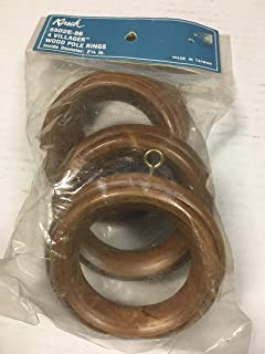 allen roth 275061 7-Pack Wood Curtain Rings