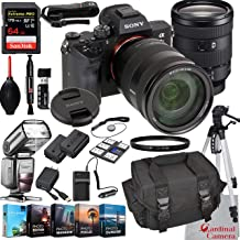 $3399 » Sony Alpha a7 III Mirrorless Digital Camera with 24-105mm Lens Bundle + Extreme Speed 64GB Memory (24 Items)