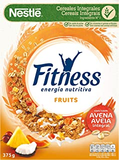comprar comparacion Cereales Nestlé Fitness Fruits - Copos de trigo integral, arroz y avena integral tostados con frutas - 16 paquetes de cere...