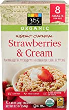 365 Everyday Value, Organic, Instant Oatmeal, Strawberries and Cream, 8 ct