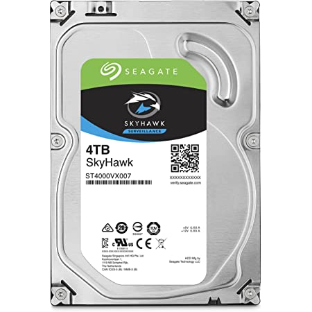"Seagate Skyhawk 3.5"" 4TB 内蔵ハードディスク HDD 3年保証 64MB 5900rpm ネットワーク監視カメラ ビデオレコーダー用ST4000VX007"