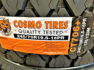 Cosmo CT706 Plus Commercial All-Season Radial Tire-245/70R19.5 135/133M LRH 16-Ply
