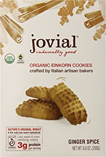 Jovial Ginger Spice Einkorn Organic Cookies,  8.8 Ounce (Pack of 6)