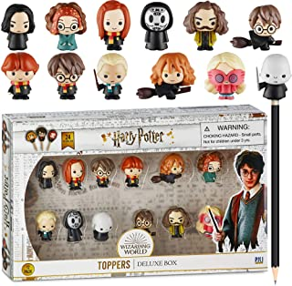 Harry Potter Pencil Toppers, Gifts, Toys, Collectibles – Set of 12 Harry Potter Figures for Writing, Party Decor –Ron Weas...