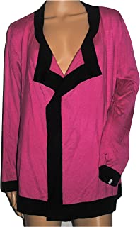 Women's Cascading Front Cardigan Rose or Black