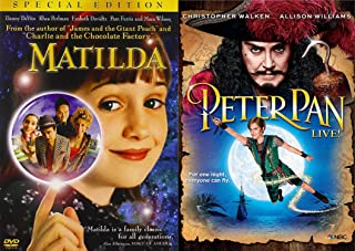 Young Adventurer's DVD Bundle - Matilda (Special Edition) & Peter Pan LIVE (Gift set) 2 Movie DVD Bundle