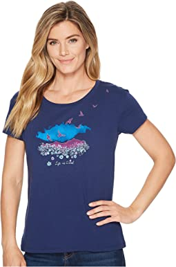 Freebirds Watercolor Breezy Tee