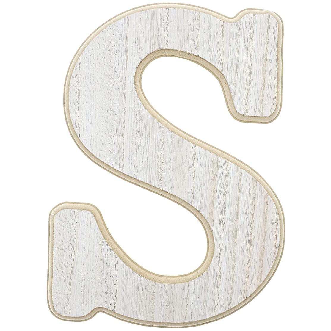 Unfinished Wood Letter S Cutout for DIY Painting, Crafts, and Wall Decor, 8.5 x .5 x 12 Inches