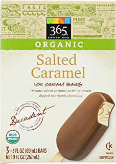 365 Everyday Value, Organic Salted Caramel Ice Cream Bars, 3 ct, (Frozen)