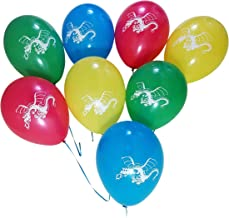 Dragon Party Balloons – Blue, Red, Green, Yellow – 25 Pack