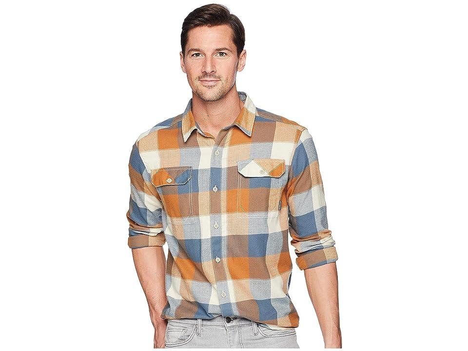 Columbia Flare Guntm Flannel III Long-Sleeve Shirt (Canyon Gold Large Plaid) Men