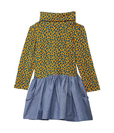 fiveloaves twofish Maisie Dress (Little Kids/Big Kids) (Blue Leopard) Girl