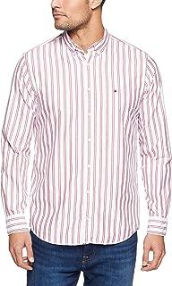 Tommy Hilifiger Men's Crest Short Sleeve Shirt, Red/Medium Blue/Bw