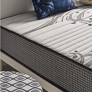 Naturalex | Memosleep | Colchón 90x190 Cm Tecnología Carbón Actif Regeneradora | Flexibilidad Máxima Sistema Blue-Látex | Núcleos MemoFeel Ventilación Constante | 7 Zonas de Descanso | Oekotex