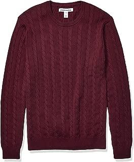 Amazon Essentials Men's Crewneck Cable Cotton Sweater