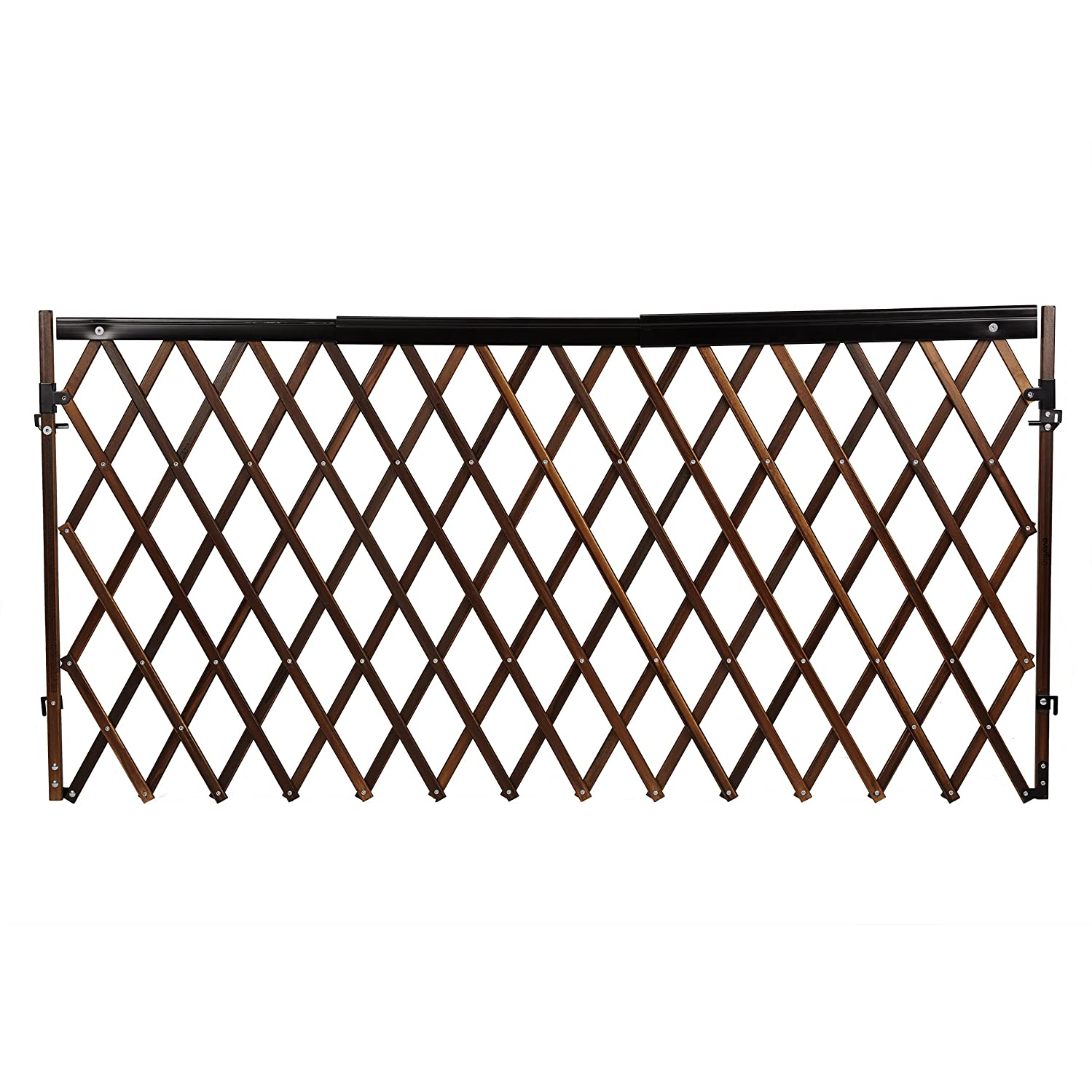 Evenflo Expansion Swing Wide Gate Extra-Wide Gate Farmhouse, Dark Wood