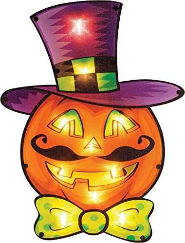 2021 Twinkle Star 2021 16 x outlet sale 12 Inch Halloween Decorations Lighted Vintage Jack-o-Lantern Pumpkin Window Silhouette Decoration, 10 LED High-Voltage Light Up Holiday Party Home Yard Art, Indoor Outdoor Ornament sale