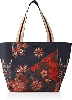 Desigual Womens Fabric Shopping Bag, Black, U