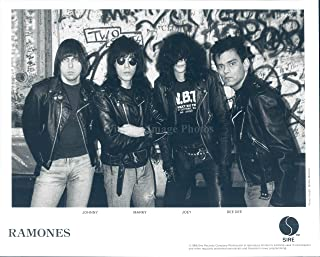 Vintage Photos 1989 Photo Ramones Musicians Johnny Marky Joey Dee Crazy Hair Guitarist 8x10