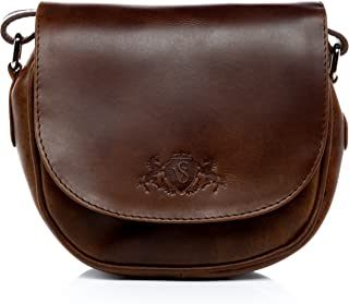 1599762da1 SID & VAIN Sac à bandoulière Cuir véritable Brighton Petit Sacoche Sangle  Femme Besace Sac porté