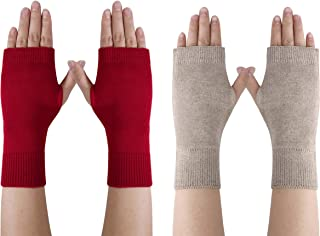 Long Arm Warmer Gloves Mydio 2 Pairs Womens Fingerless Gloves