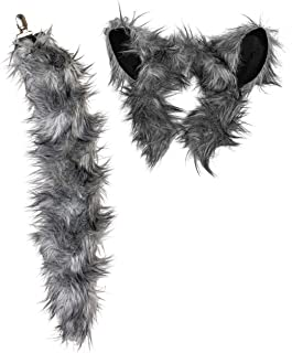Plush Zoo Animal Ears Headband and Tail Clip-On for Animal Costumes and Cosplay or Theatre