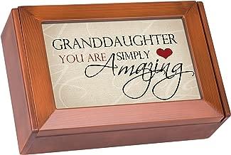 Cottage Garden Granddaughter You are Amazing Woodgrain Petite Keepsake Music Box Plays My Wish