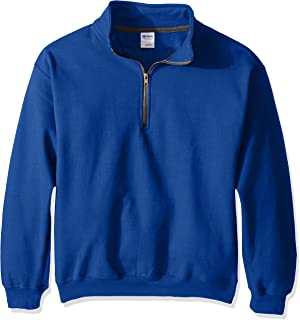 Men's Fleece Quarter-Zip Cadet Collar Sweatshirt
