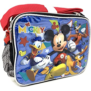Navy// Yellow Disney Mickey Mouse Rectangle Lunch bag with Strap and Microsilk Printing