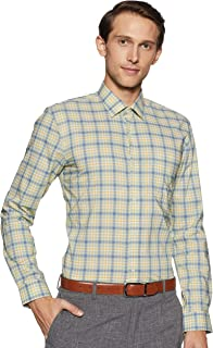 Peter England Men's Checkered Slim fit Formal Shirt