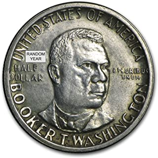 1946-1951 P, D or S Booker T Washington Half (Low Grade/Cleaned) Silver Poor