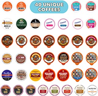 Flavored Coffee Variety Pack, Fully Compatible With All Keurig Flavored K Cups Brewers, 40 Unique Flavored Coffee Pods - P...
