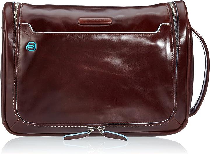 Beauty case da viaggio, piquadro move 2 30 cm BY3853B2/BLU2