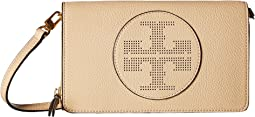 Tory Burch Perforated Logo Flat Wallet Crossbody