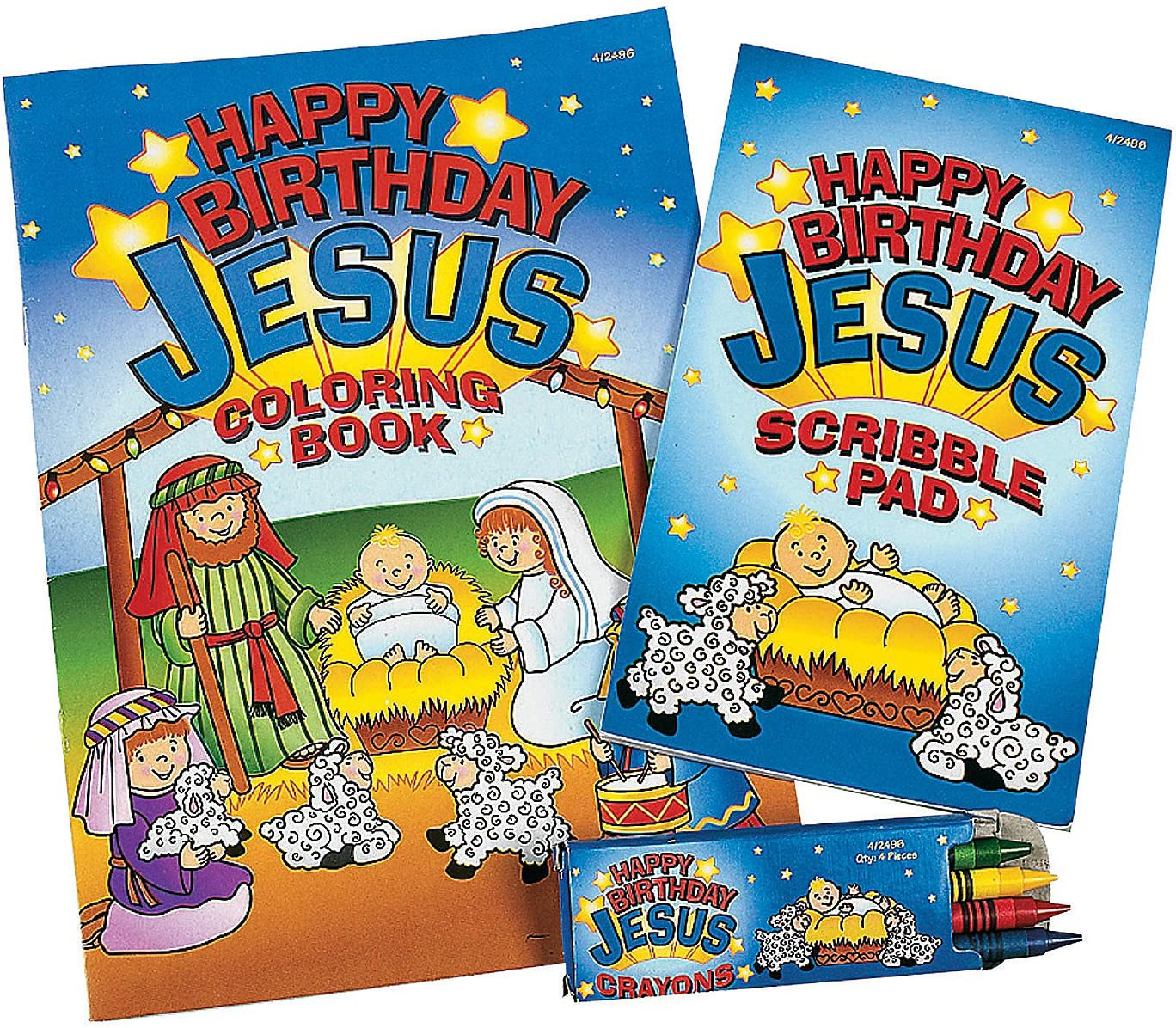 5 ☆ popular Fun Express - Happy Birthday Christmas Jesus Coloring Sets Limited price for
