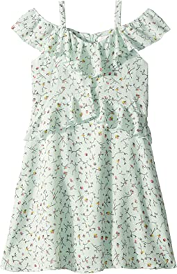 Printed Crinkle Ruffle Dress (Big Kids)