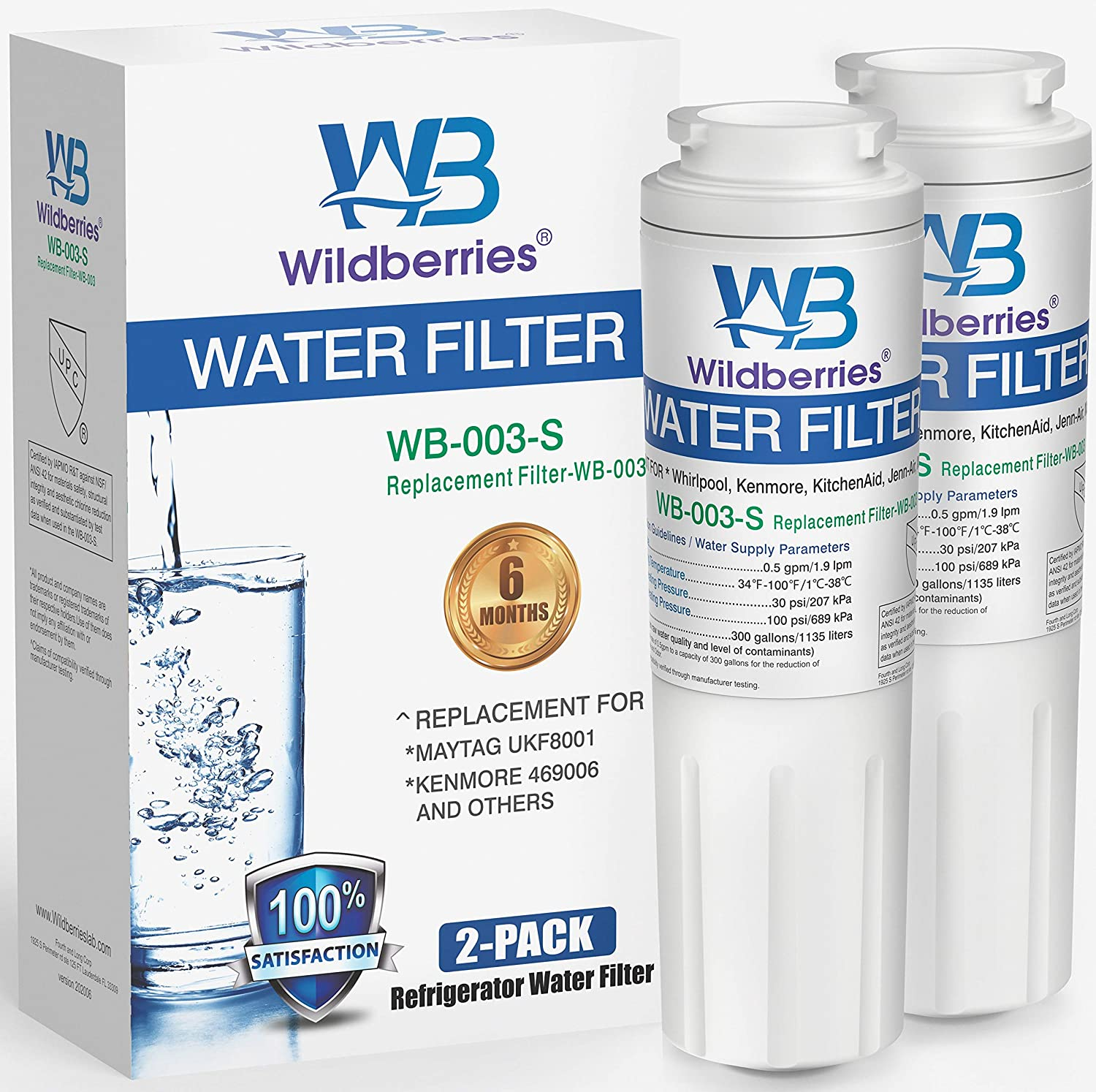 Outlet ☆ Free Shipping Wildberries 67003523 Water Filter Replacement Whirlpool for Refr Max 82% OFF