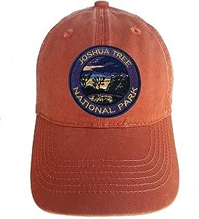 Joshua Tree National Park Adjustable Curved Bill Strap Back Dad Hat Baseball Cap Souvenir National Parks Logo Series