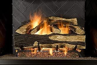 Sure Heat SH18DBNG Sure Heat Seasoned Hickory Dual Burner Vented Gas Log Set, 18-Inch, Natural Gas