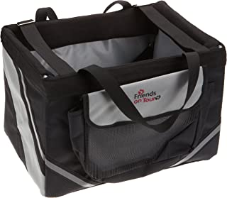 Trixie Front-box Basic For Bicycles, 38 × 25 × 25 Cm, Black/ Grey