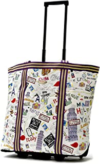 Olympia Luggage Cosmopolitan Rolling Shopper Tote