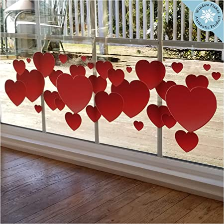 Valentine's Day Balloons Hearts Retail Shop Window Display Stickers Decals A326