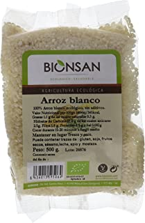 Bionsan Arroz Blanco Redondo Ecológico - 6 Bolsas de 500 gr - Total: 3000 gr