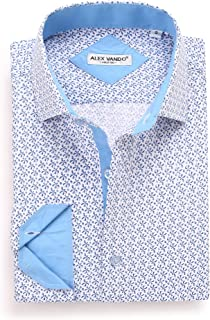 Mens Printed Dress Shirts Long Sleeve Regular Fit Fashion Shirt