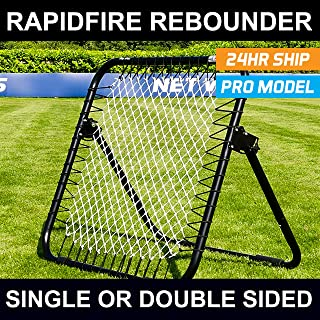 RapidFire Soccer Rebounder | Spring-Loaded Rebound Net | Single Or Double Sided