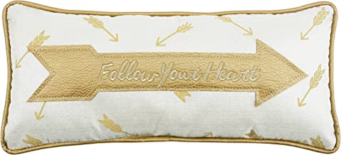 Comfy Hour 18x8 Follow Your Heart Throw Golden Arrow Accent Pillow Throw Pillow Simple Cushion