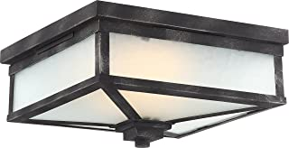 Nuvo Lighting One Light Nuvo 62 833 LED Outdoor Flush Mount, Black