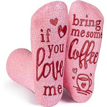 Rosa Flaumig Wenn du Mich Liebst, Bring Mich Socken (Wein, Schokolade, Kaffee) Geschenk für Frauen
