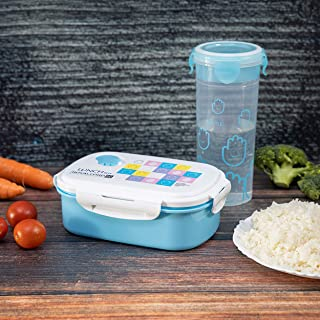 Royalford Lunch Box with Water Bottle - Portable Design Perfect Loc with Seal System To Avoid Spillage | Dishwasher Safe |...